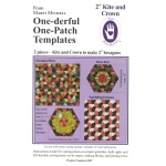 "One-derful One-Patch Template 2"" Kite and Crown, 8287  from Marti Michell"