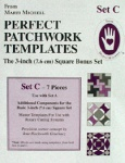 Perfect patchwork templates, Set C, 8253 from Marti Michell