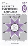 Perfect patchwork templates, Set P, 8959 from Marti Michell