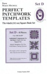 Perfect patchwork templates, Set D, 8254 from Marti Michell