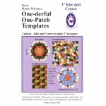"One-derful One-Patch Template 3"" Kite and Crown, 8288  from Marti Michell"