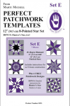 Perfect patchwork templates, Set E, 8255 from Marti Michell