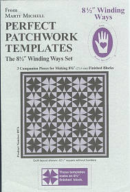 "Perfect patchwork templates, The 8,5"" Winding Ways Set. 8974 from Marti Michell"
