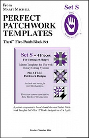 Perfect patchwork templates, Set S, 8166 from Marti Michell