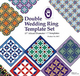 Double Wedding Ring Template Set. 8017